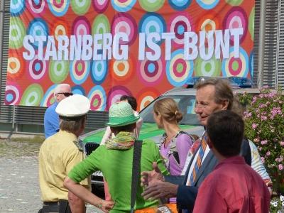 Anlässlich einer NPD-Veranstaltung haben wir gezeigt, dass Starnberg bunt ist.