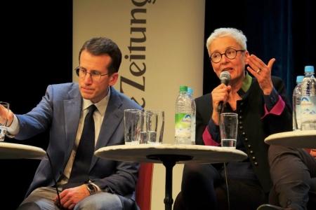 Martina Neubauer auf der SZ-Podiumsdiskussion in Gauting