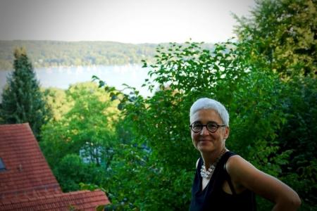 Martina Neubauer Blick vom Schloßgarten Starnberg auf den Starnberger See