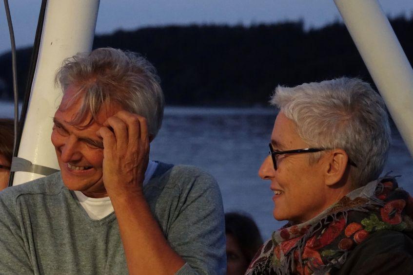 Martina Neubauer auf dem Fünf Seen Festival FFSF 2019 - Dampferfahrt mit Festivalleiter Matthias Helwig