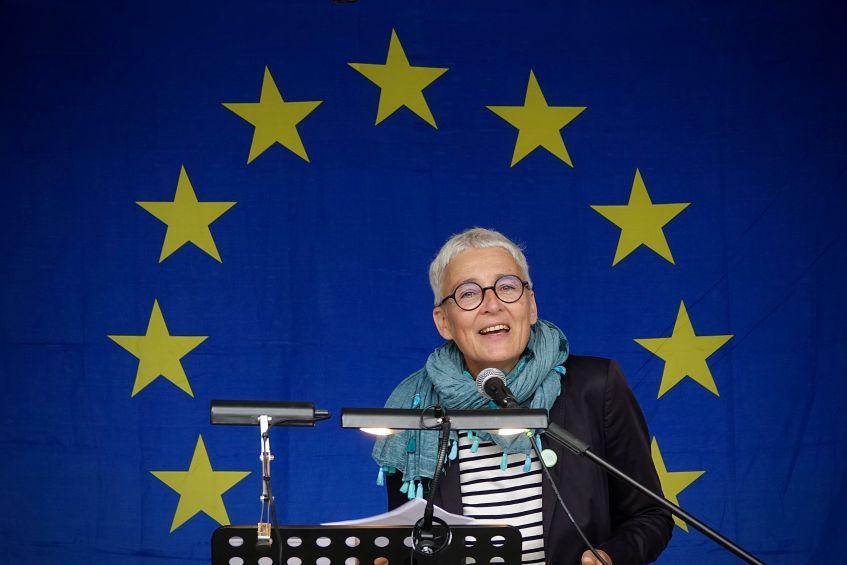 Martina Neubauer für Europa - Veranstaltung 2019 auf dem Starnberger Kirchplatz