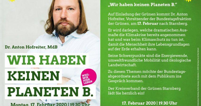 Anton Hofreiter Starnberg Klimaschutz mit Martina Neubauer und Kerstin Täubner-Benicke