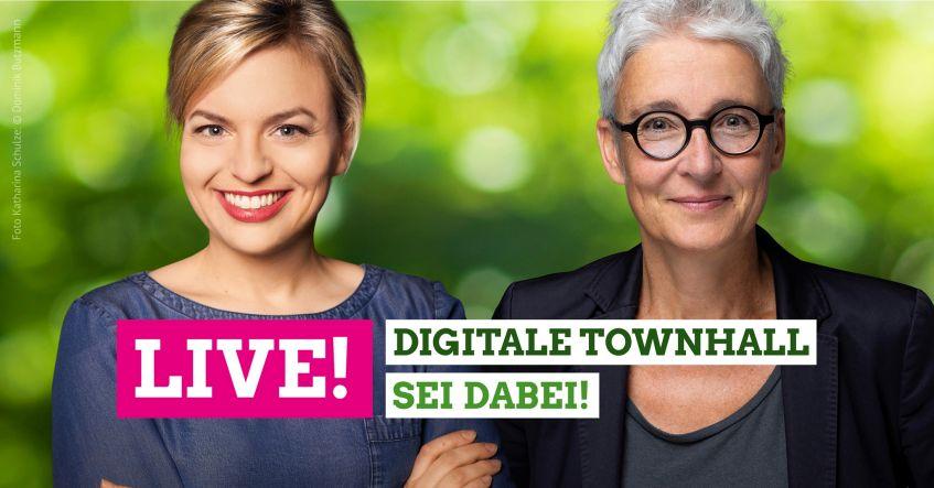 Digitale Townhall mit Katharina Schulze, MdL und Martina Neubauer