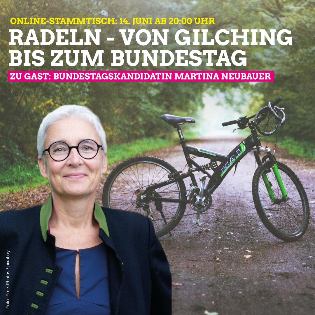 """""""Radeln – von Gilching bis zum Bundestag"""" am 14.06.21 / 20 Uhr"""