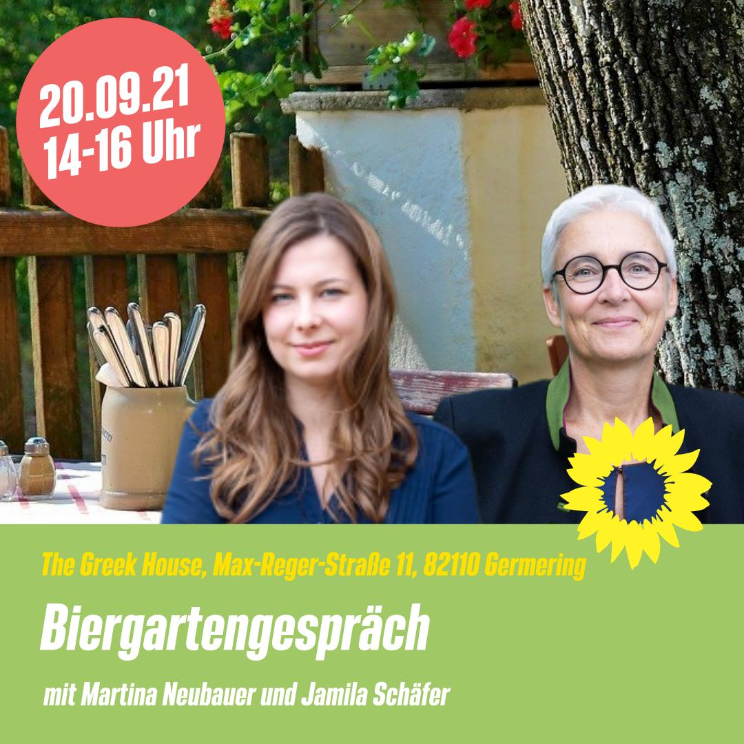 Biergarten-Gespräche mit Jamila Schäfer