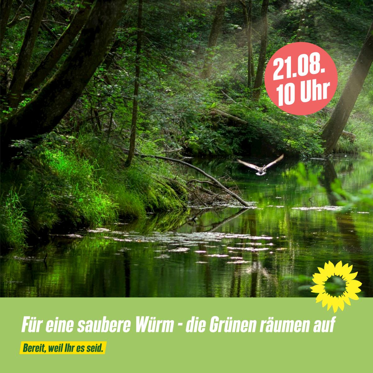 Für eine saubere Würm – Die Grünen räumen auf